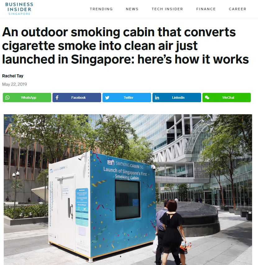 Smoking Cabin - Public Relations Agency for Tech Startup Singapore